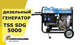 видео Бензиновый генератор ТСС SGG 6000 E (новая модель) с АВР