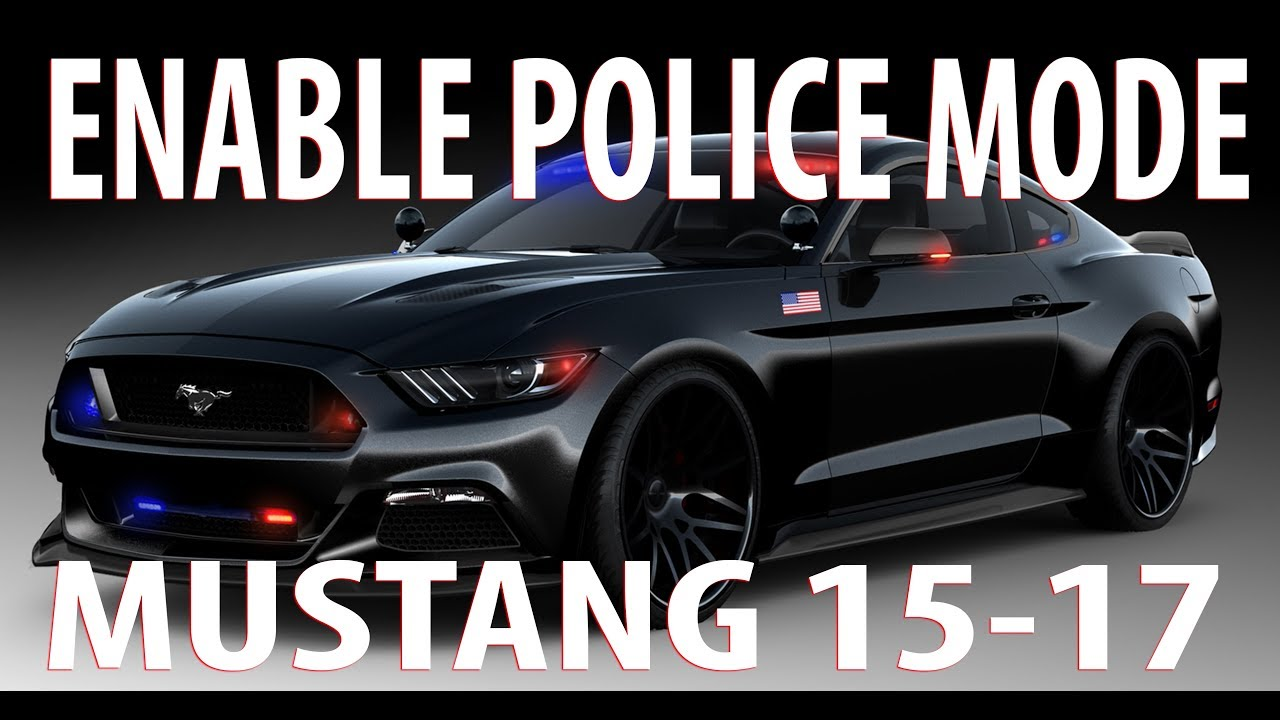 How To Enable Police Mode - Forscan FORD MUSTANG 2015 - 2016