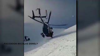شاهد: انتشال شخص وسط ثلوج جبال الألب الفرنسية
