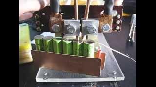 Точечная сварка для аккумуляторов в работе(Моя самодельная точечная сварка http://guslarep.blogspot.com/2013/03/tochechnaya-svarka.html., 2013-04-11T20:49:23.000Z)