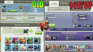 OLD CLASH OF CLANS VS NEW CLASH OF CLANS/UI CHANGE