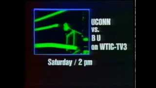 1974 Promo for UConn Huskies Basketball Game on Ch. 3, WTIC-TV, in Hartford
