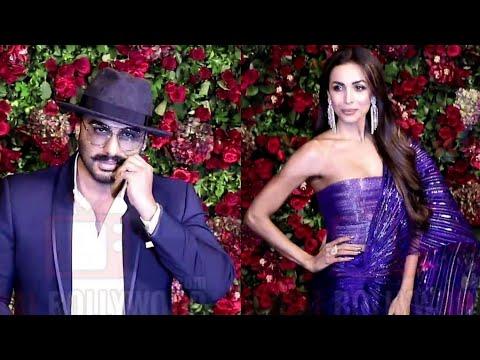 Arjun Kapoor And Malaika Arora Khan At Ranveer - Deepika Reception Party #DeepVeer