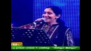 Sujatha singing pudhu vellai mazhai @ Rahmania