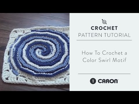 How-To Crochet a Color Swirl Motif