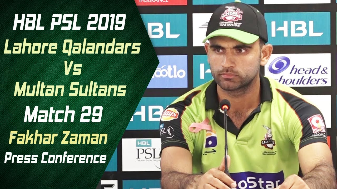 Match 29 - Post Match Press Conference: Lahore Qalandars Vs Multan Sultans | Fakhar Zaman