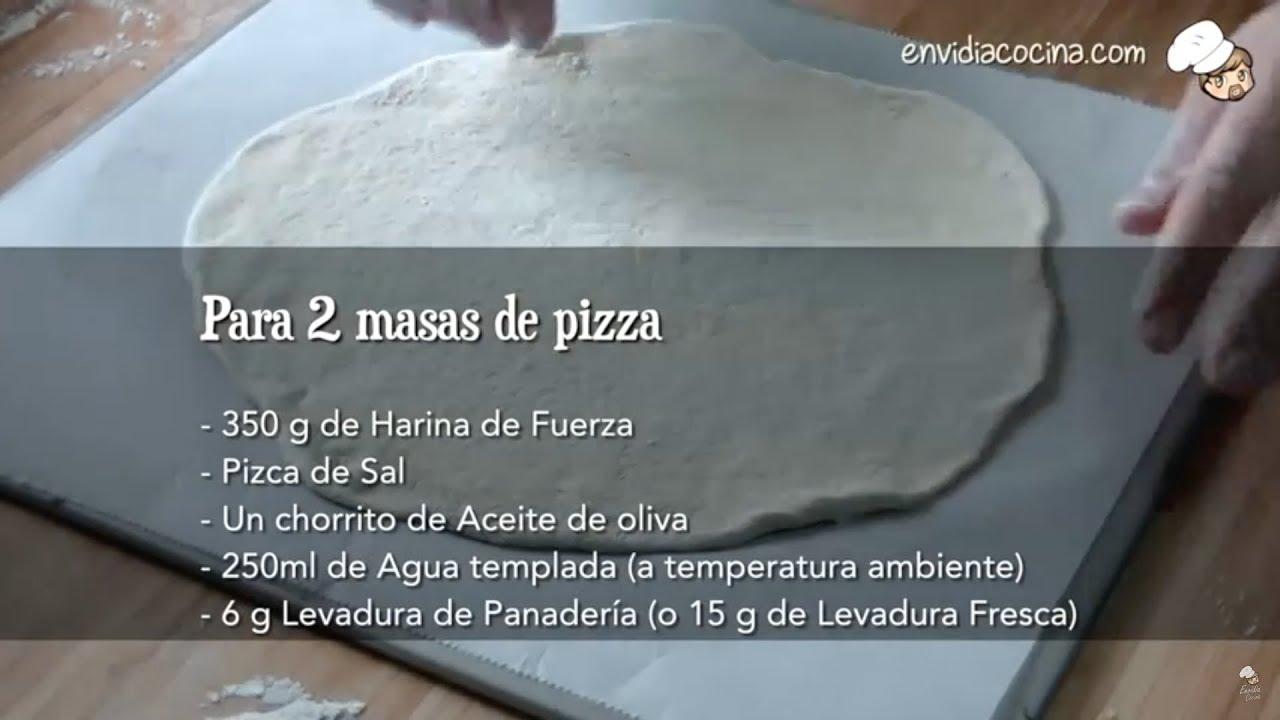 C mo hacer masa de pizza casera receta f cil y r pida - Cocina casera facil y rapida ...