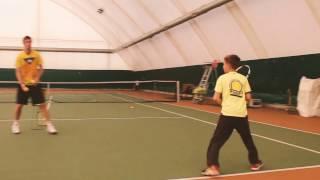 Семь раз подрежь, один - ударь | На тренировке по большому теннису