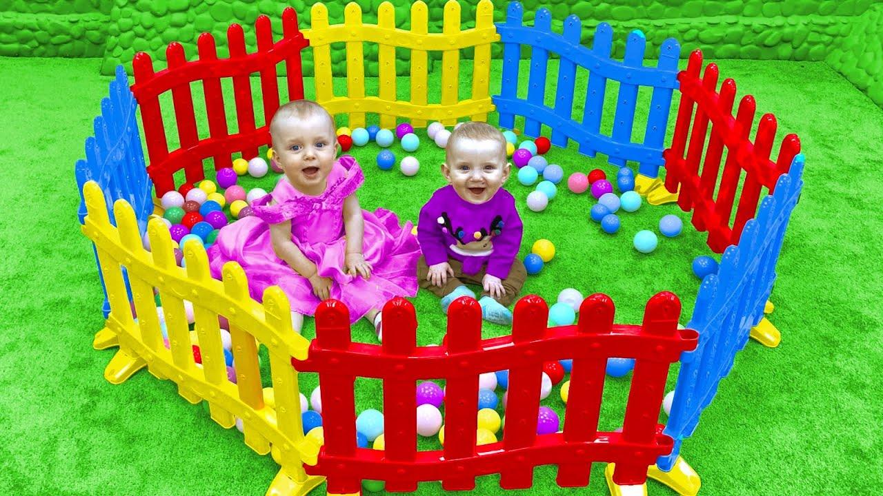 Five Kids Song with Building Blocks Nursery Rhymes & Children's Songs