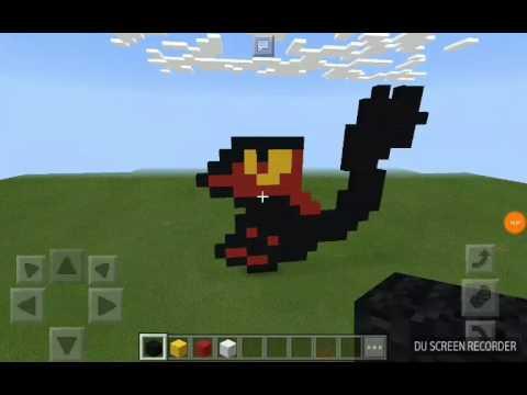 2ème Pixel Art Sur Mcpe Flamiaou Youtube