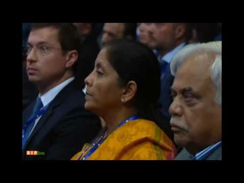 PM Modi at Plenary Sesion of St. Petersburg International Economic Forum in Saint Petersburg, Russia