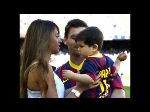 Messi and his love for his son Thiago 2015