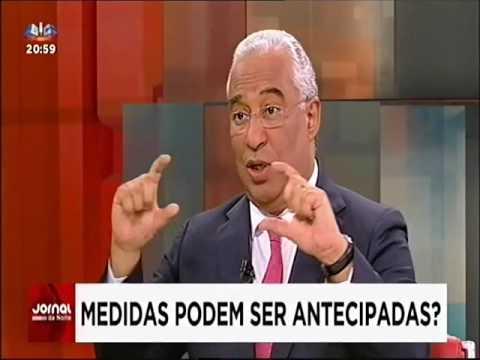 Entrevista de António Costa na SIC