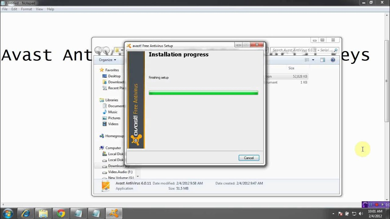 avast free antivirus download size