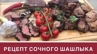 Рецепт очень сочного шашлыка из свинины и говядины: рецепты соуса и маринада