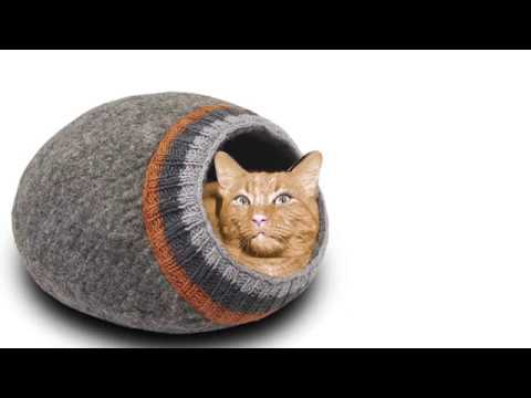 meowfia-premium-felt-cat-cave-beds---felted-cat-caves---beds-for-cats