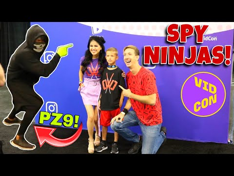 VIDCON 2019 DAY 4 - WYATT MEETS CHAD WILD CLAY, VY QWAINT, DANIEL AND REGINA - SPY NINJAS UNITE!