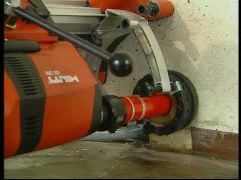core drilling in reinforced concrete incl drill stand fix. Black Bedroom Furniture Sets. Home Design Ideas