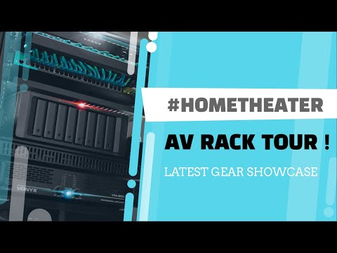 Home Theater Tour AV Rack 2020 | Pioneer Sanus AV Rack Klipsch Speakers LIFX PLEX WiFI Linksys Setup