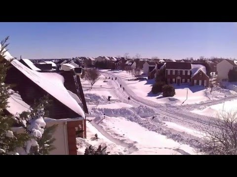 Washington DC Blizzard 2016 Snow Melt Time Lapse