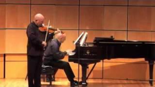 Prokofiev  Sonata Opus 80 - Elmar Oliveira - violin, Robert Koenig - piano, part 3 of 4