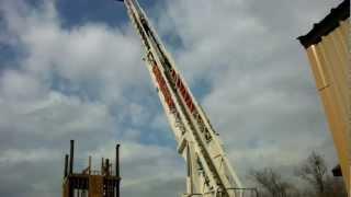 Aerial climb 100+ platform ladder truck Pell City Fire Academy