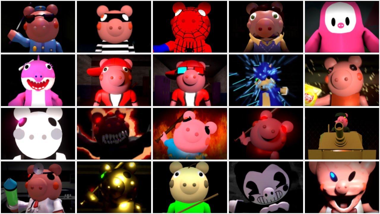 20 ROBLOX PIGGY JUMPSCARES - Roblox Piggy Animation