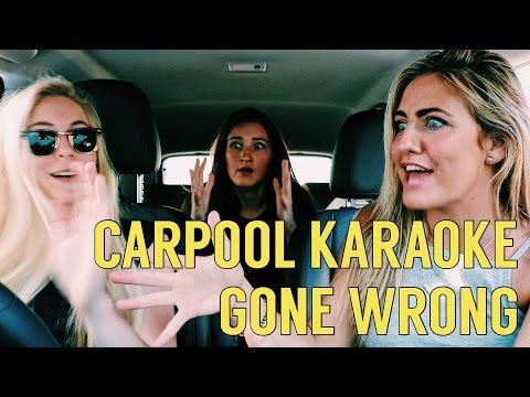 Carpool karaoke gone wrong!!