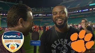 Clemson Former QB Tajh Boyd Beaming With Pride of Tigers