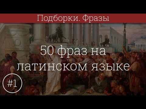 50 фраз на латинском языке #1