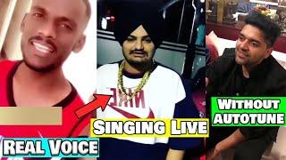 15 Punjabi Singers Real Voice without Autotune/Music | Sidhu Moosewala,Karan Aujla,Kaka,Jass Manak