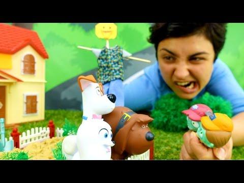 Cмотреть Видео для детей. Поделки своими руками ПУГАЛО ДЛЯ ОГОРОДА. Игрушки Тайная жизнь домашних животных