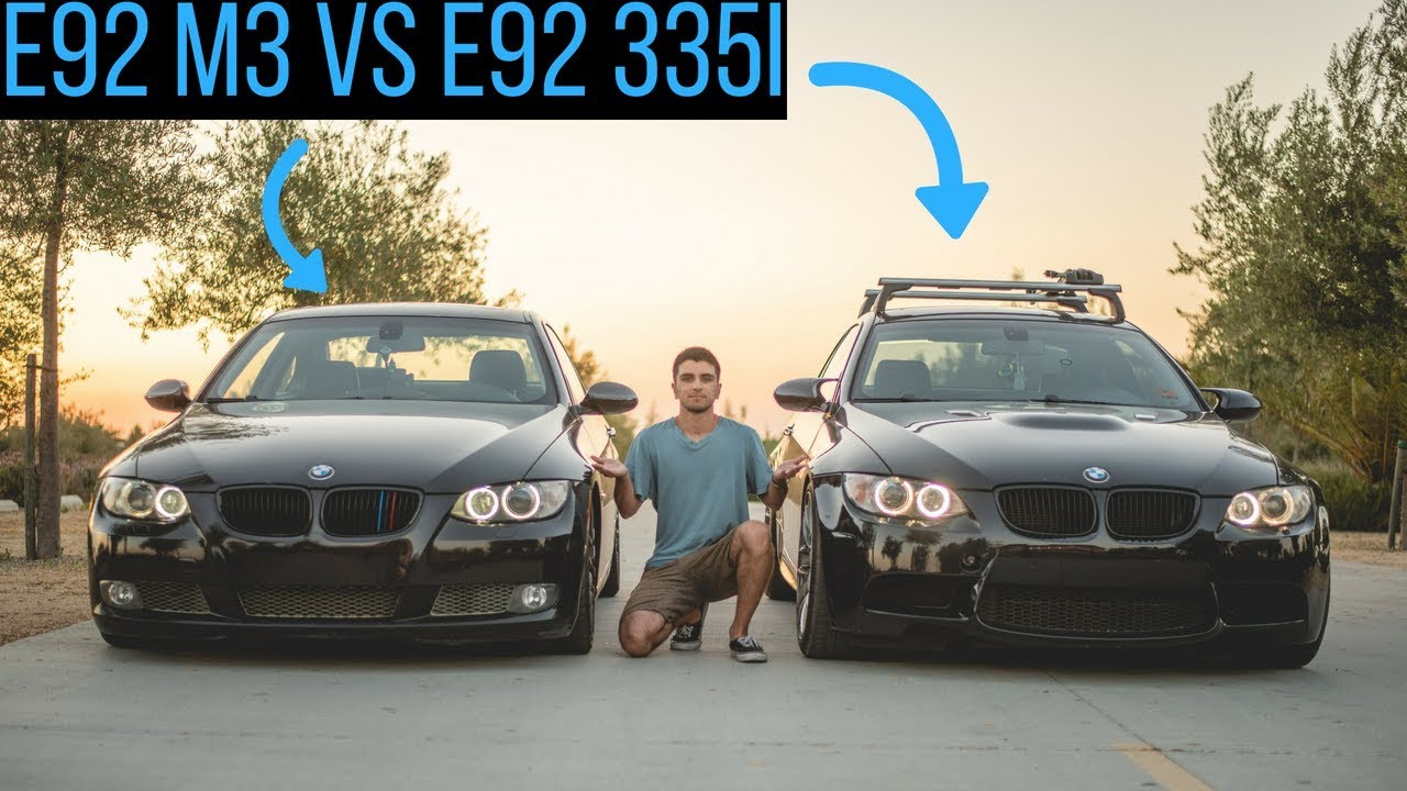 Tuned BMW E92 335i VS E92 M3! Street Pulls!
