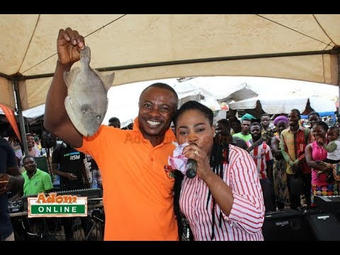 Joyce Blessing with Adom Live Worship  storm Mallam Market in Accra