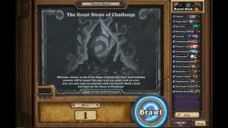Hearthstone: New Tavern Brawl The Great Stone of Challenge