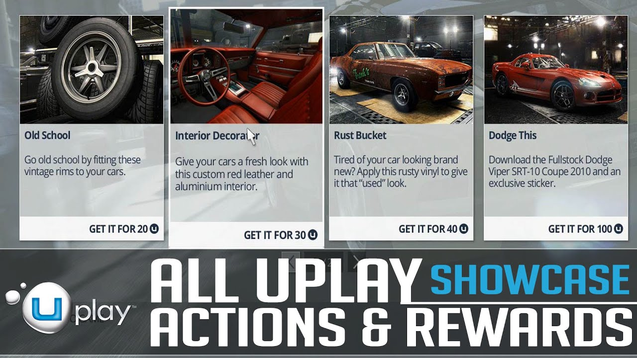 The Crew - All Uplay Actions and Rewards SHOWCASE (Bonus Theme, Cars ...