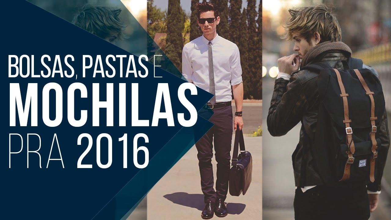 Mochilas e Bolsas em alta pra 2016 - Tendências Masculinas  14 - YouTube b1adca4723