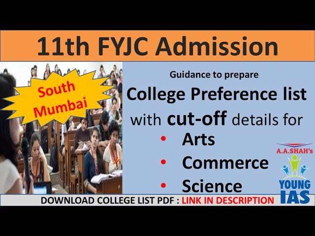 11th admission form kaise bhare | South Mumbai College Preference list cut-off Arts Commerce Science