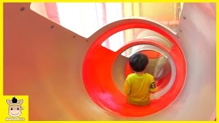 Indoor Playground for Kids and Family Fun Play ! Cocomong Kids Cafe Pororo | MariAndKids Toys