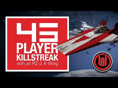 45 Player Killstreak with an RZ-2 A-Wing on Unknown Regions [SWBF2 Starfighter Assault]