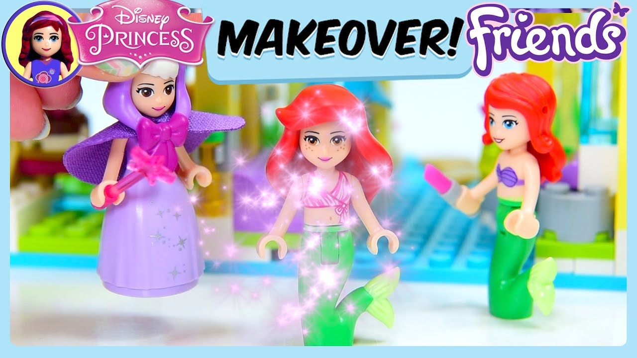 Disney Princess Makeover Lego Friends At Disneyland Silly Play