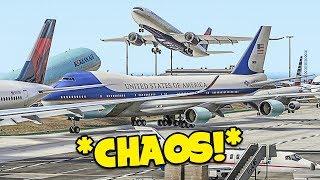 CHAOS at LAX in GTA 5 FiveM Flight Simulator Online