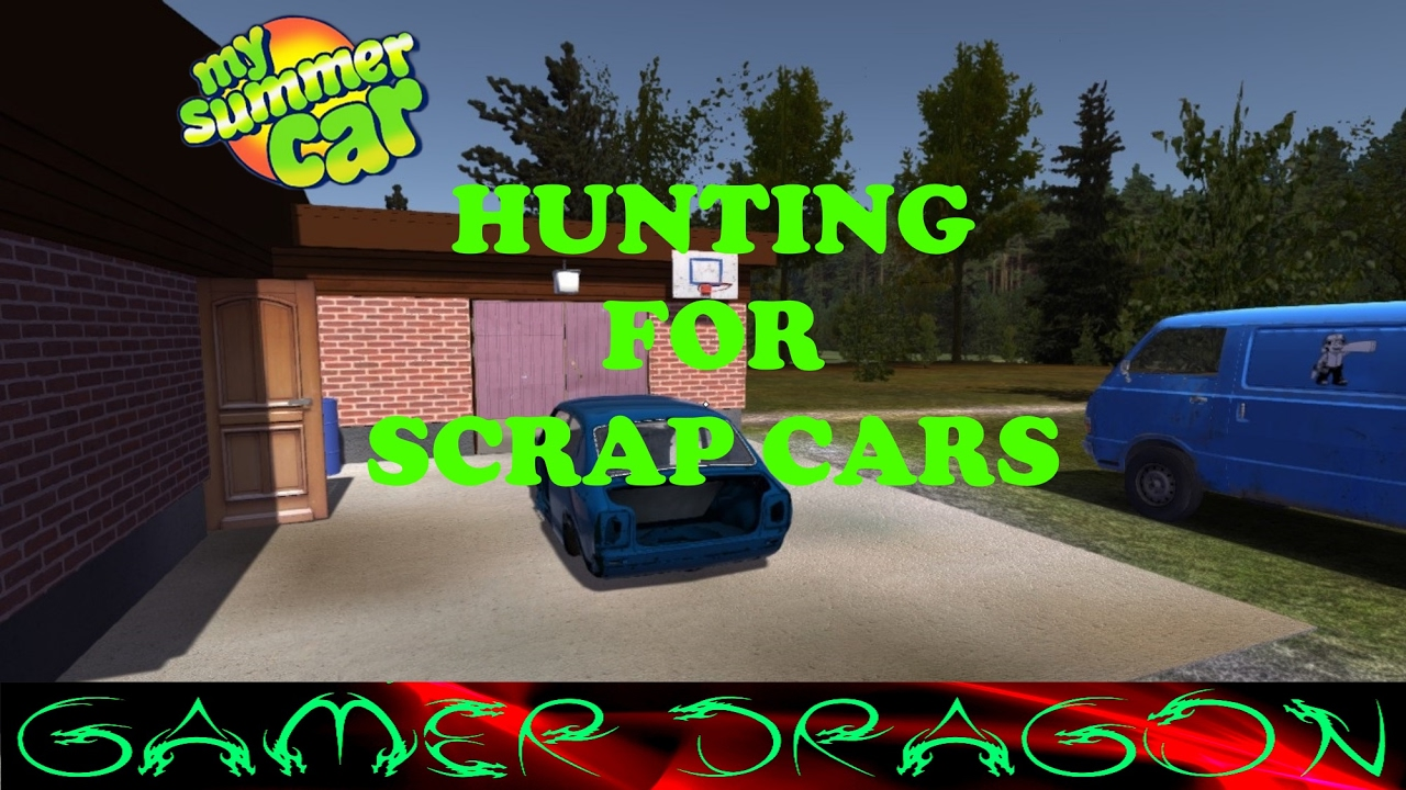 My Summer Car - Hunting for scrap cars - YouTube
