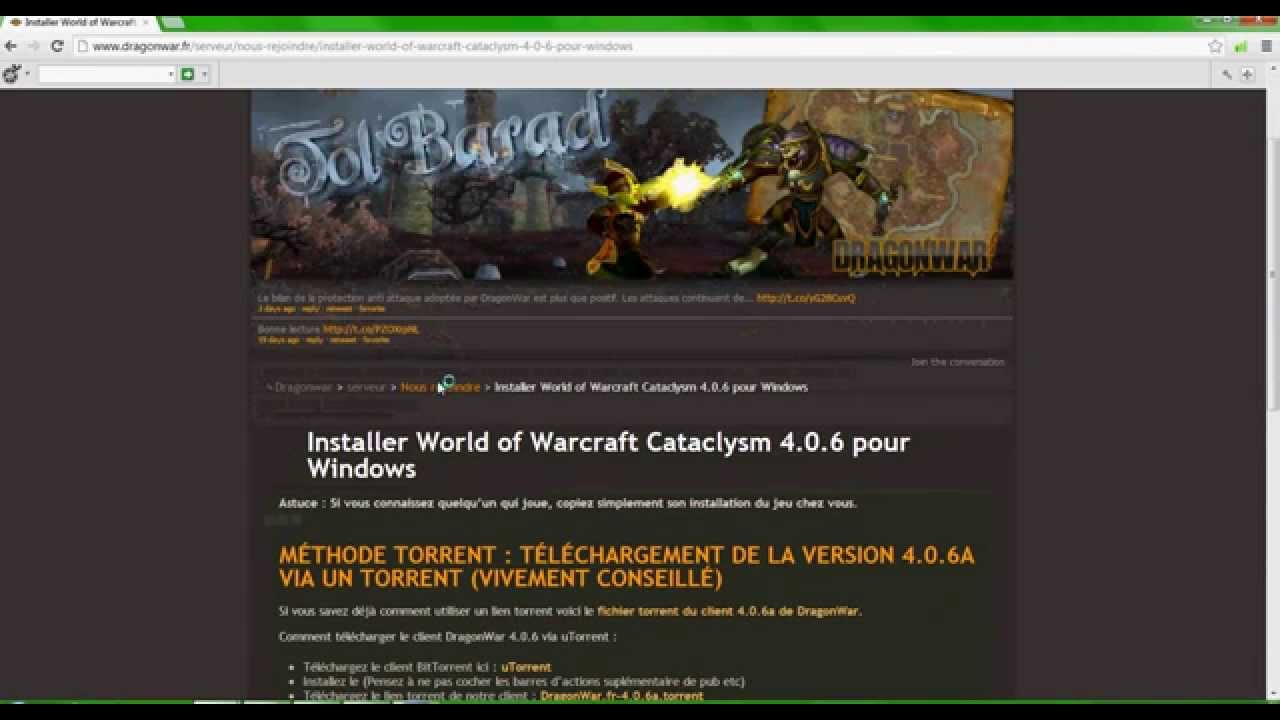 world of warcraft cataclysm serveur privé