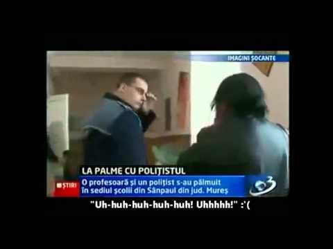 Romanian Cop slaps Abusive Teacher (English Subtitles) PARODY