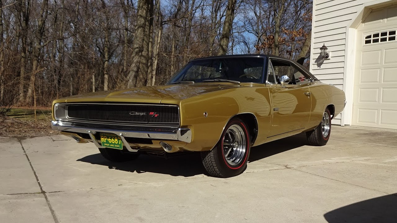 1968 Dodge Charger R T In Medium Gold 426 Hemi Engine Sound On My