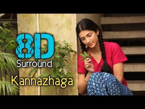 Download Kannazhaga 8D | Three | Dhanush | Shruthi Hasan | Anirudh Ravichandar | 8D BeatZ