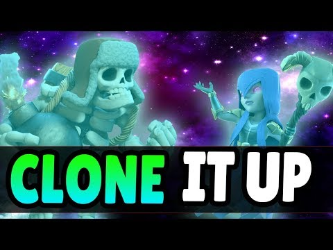 CRAZY CLONE META DECK! Witch + Giant Skeleton Combo! | Clash Royale