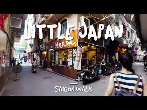 Saigon Walk with Commentary: Little Japan, District 1, Ho Chi Minh City, Vietnam [4K]