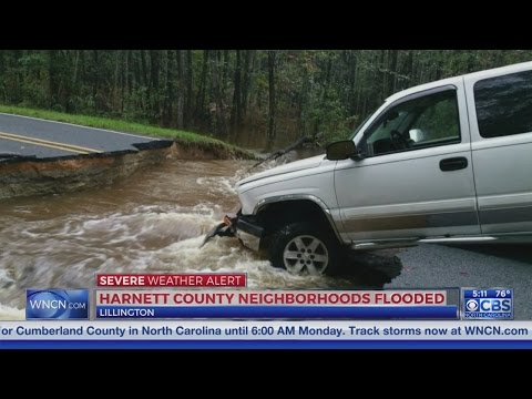 Flooding affects roads in Harnett County